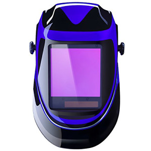 Solar Powered Welding Helmet Auto Darkening Professional Hood With Wide Lens For