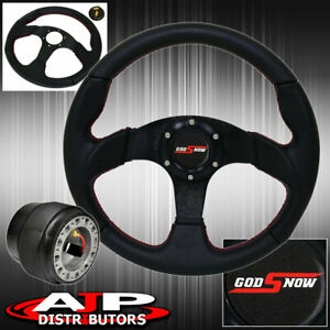 Pvc Leather 320mm Steering Wheel Hub Adapter Godsnow Button For 96 05 Civic