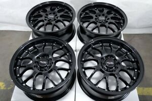 16 Wheels Fit Honda Accord Civic Kia Forte Soul Is250 Camry Black Rims 5 Lugs