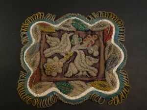 Antique Iroquois Whimsey Beaded Pin Cushion Native American Art 1900 1910 3