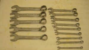 Snap on Sae Short Combination Wrench Set 14 Pcs
