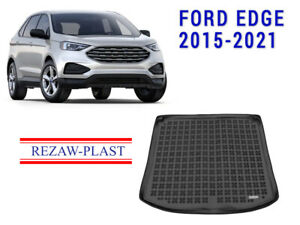 Cargo Mat For Ford Edge 2015 2021 Black Suv Rear Rubber Trunk Liner Accessories