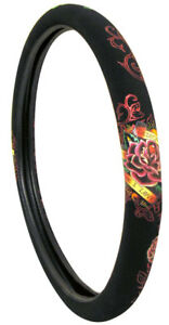 Ed Hardy Dedicated To The One I Love Steering Wheel Cover New