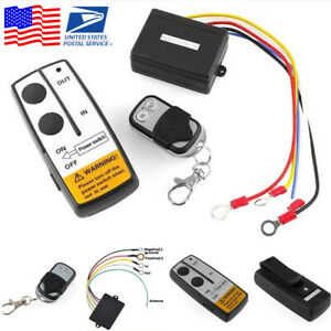 12v Volt Long Range Wireless Remote Control Kit For Car Truck Jeep Atv Winch Usa