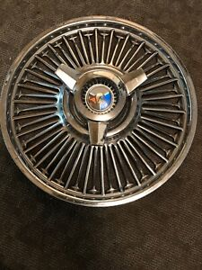 1 1963 65 Ford Mustang Galaxie Falcon Spinner Wire Hub Caps Wheel Cvr Pb08