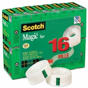 Scotch Magic Invisible Tape Value Pack 0 75 Width X 83 33 Ft Length 1 Core