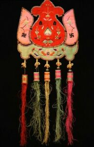 Old Chinese Decorative Hanging Hand Embroidery
