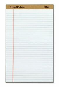 Tops The Legal Pad Plus Legal Rule White Perforated 50 Sh pd 12 Pd pk 50