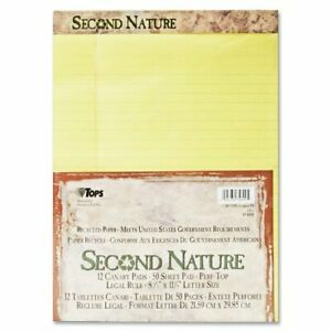 Tops Second Nature Recycled Perforated Top Pad 50 Sheet 15 Lb Legal wide
