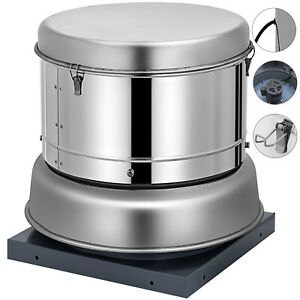 Restaurant Hood Roof Exhaust Fan 800cfm Home Use Personal Room Kitchen Filters