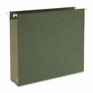 Smead 65090 Standard Green 100 Recycled Hanging Box Bottom File Folders
