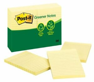 Post it Adhesive Note Self adhesive Repositionable 4 X 6 Yellow Paper