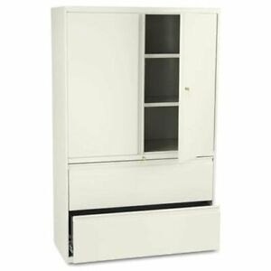 Hon 800 Series Wide Lateral File With Storage Cabinet 42 X 19 3 X 67