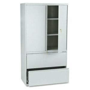 Hon 800 Series Wide Lateral File With Storage Cabinet 36 X 19 3 X 67