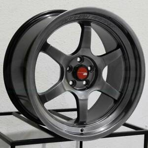 18x8 5 Aodhan Ah08 Ah8 5x112 35 Hyper Black Wheels Rims Set 4