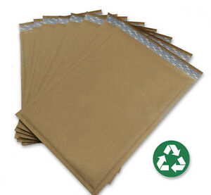 Size 5 10 5x15 Recycled Natural Brown Kraft Bubble Mailer 100 Ct usa Made