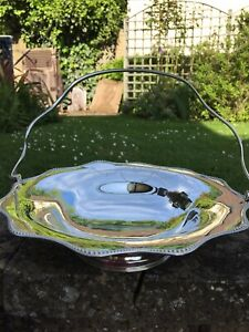 Mappins Webb Silver Plated Serving Tray And Handle