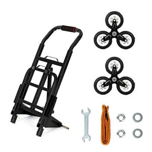 330lb Capacity Hand Truck Push Cart Convertible Moving Dolly Trolley