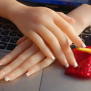 One Pair Luxury Women s Realistic Silicone Lifelike Soft Mannequin Hand Model S3