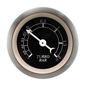 Auto Vintage Classic Mechanical Turbo Boost Black Gauge 1 2 Bar White Pointer