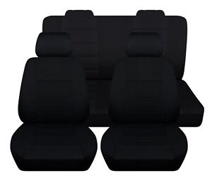 Car Seat Covers To Fit 2005 2007 Ford Mustang Coupe Convertible Full Set Custom