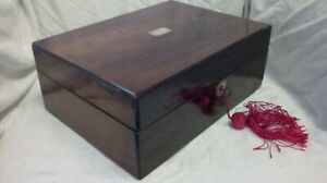 Old Wooden Box Vintage Wooden Box Vintage Sewing Box Old Sewing Box With Key