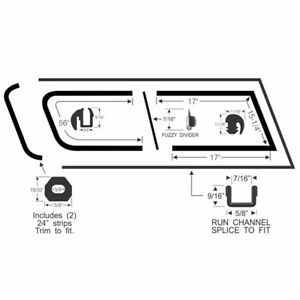 1960 1966 Chevrolet Gmc Suburban Front Sliding Quarter Window Glass Seal Kit