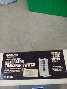 New Reliance Generator Transfer Switch Model 51410c