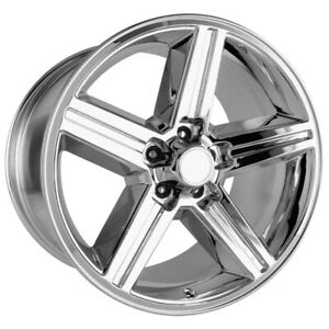One 20x8 5 Strada Replica R148 Iroc Replica 5x114 3 35 Chrome Wheels Rims