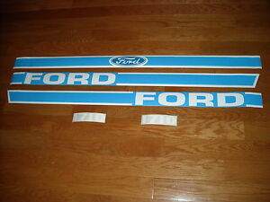Ford 1710 Tractor Hood Decal Set Vinyl