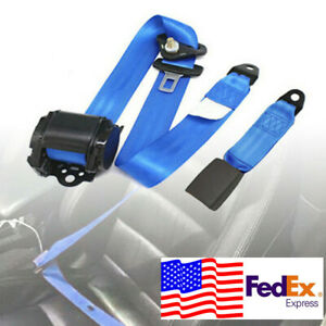 Usa 3 Point Automatic Car Front Seat Belt Buckle Kit Retractable Safety Straps
