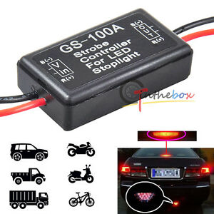 12v Gs 100a Led Brake Stop Tail Light Strobe Flash Module Controller Box Module