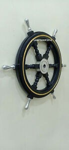 Nautical Wooden Ship Wheel Vintage Wall Decor For Home