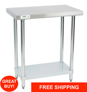 18 X 30 Stainless Steel Work Prep Shelf Table Commercial Restaurant 18 Gauge