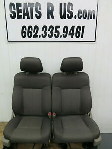 2008 2009 2010 2011 2012 Ford F150 Xl Front Cloth Bucket Seats Med Stone Cloth
