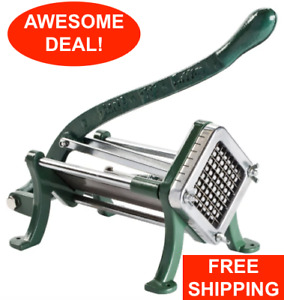 3 8 Green French Fry Cutter Potato Slicer Dicer Copper Commercial Restaurant
