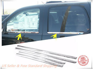 Stainless Steel Chrome Window Sill Trim For 2007 2014 Chevrolet Tahoe Suburban