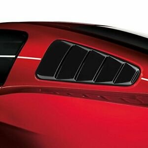Accessories Rear Side Window Louvers Shutters Trim For 2015 2017 Ford Mustang