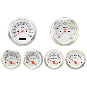 Motor Meter Racing 6 Gauge Set Classic Electrical Speedometer Kmh C Bar