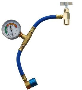 Fjc 6037 R 134a U Charge Hose And Gauge For Self Sealing Valve Cans