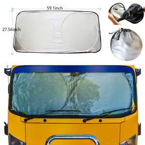 Foldable Large Auto Car Window Sun Shade Truck Visor Windshield Uv Block Cover