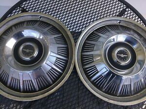 1964 Ford Thunderbird 15 Wheel Covers Hubcaps Set Of 2