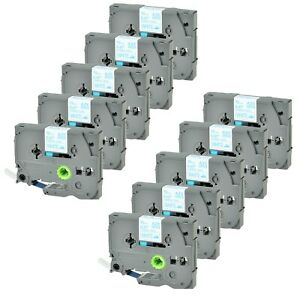 10pk Tz fa3 Tzefa3 Blue On White Fabric Label Tape For Brother P touch 1 2