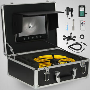 30m 7 Lcd Pipe Inspection 1000 Tvl Video Camera Led Waterproof Drain Pipe Sewer