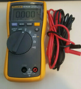 Fluke Essential Multimeter 110 Plus 772343 Cat Iii 600v Tests True Rms