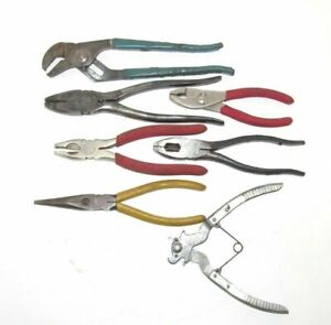 7 Pliers Needle Nose Linesman Cutters Channel Lock Cross Link Chain K D No 472
