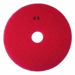 3m Buffer Floor Pad 5100 Red 13 Pack Of 5 Pads