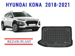 All Weather Rear Rubber Trunk Mat Cargo Liner Cover For Hyundai Kona 2018 2020
