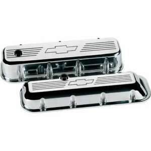 Billet Specialties 96121 Polished Bowtie Tall Valve Covers Fits Big Block Chevy