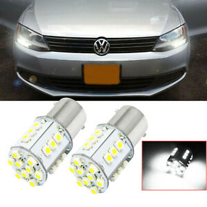 1156 24 Smd White Led Bulb Daytime Drl Lights For Volkswagen Jetta 2011 2017